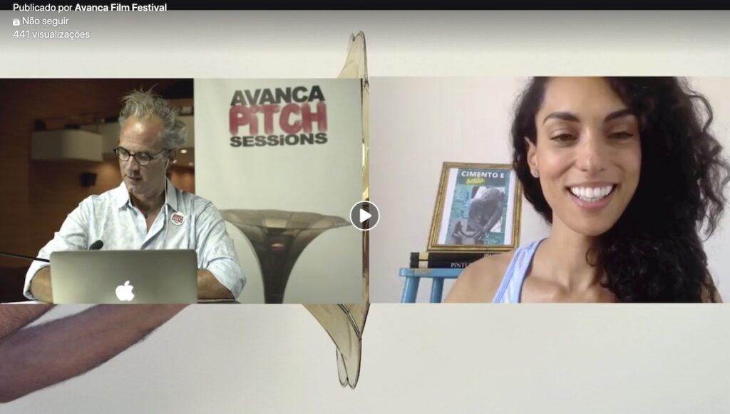 Vera Casaca no Avanca Pitch Sessions - Pitch Online perante Júri Internacional